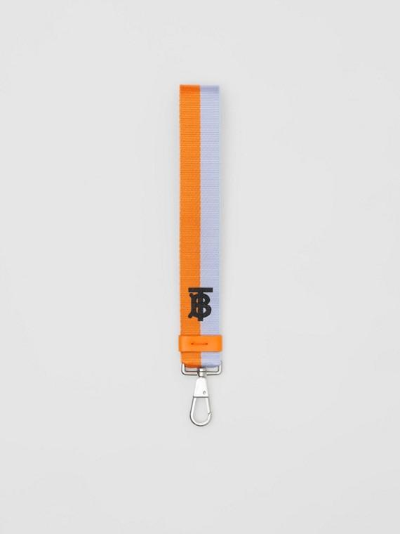 Двухцветный брелок с инициалами Томаса Берберри (Нежно-голубой / Ярко-оранжевый)