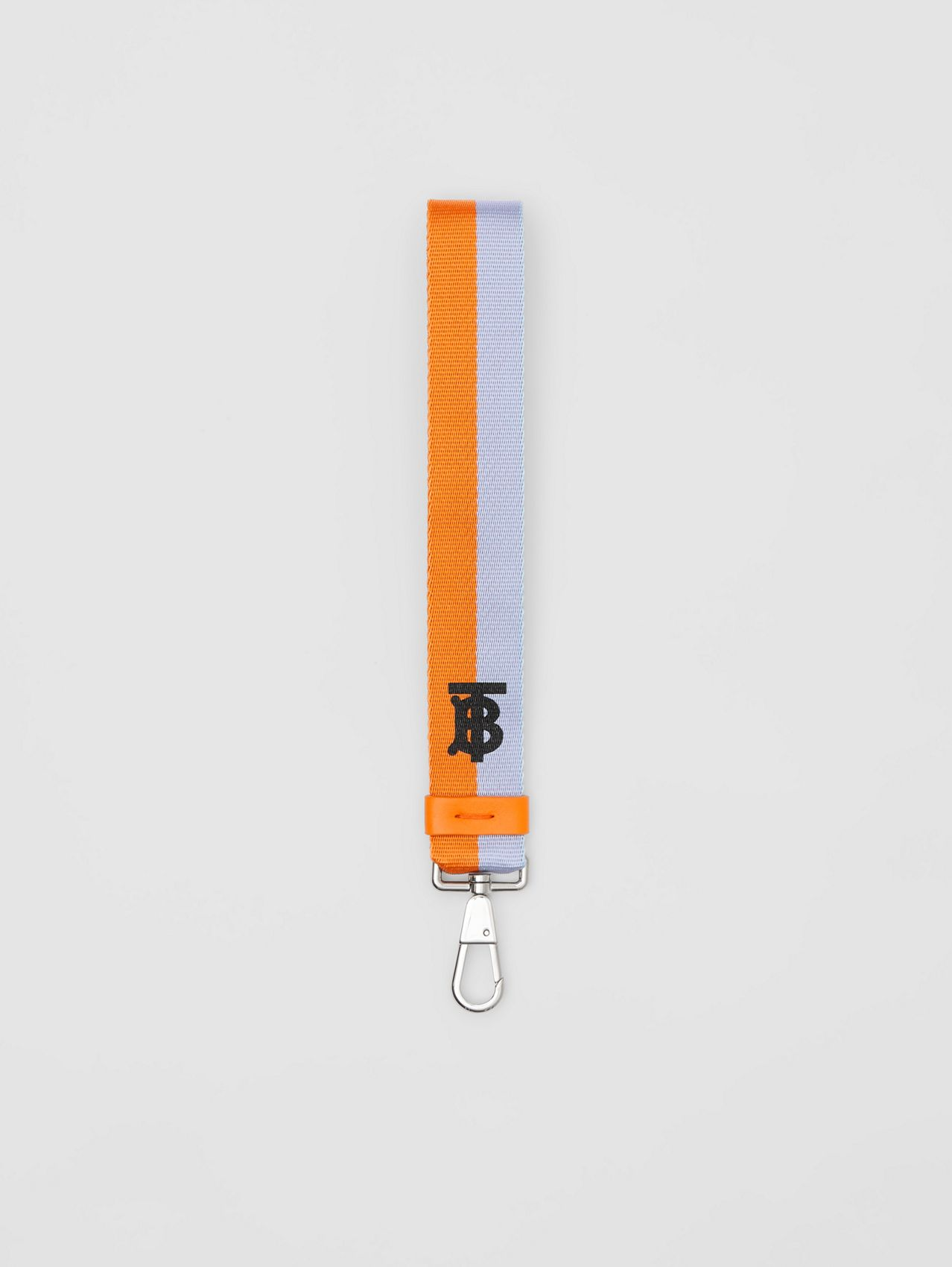 Two-tone Monogram Motif Charm in Baby Blue/bright Orange