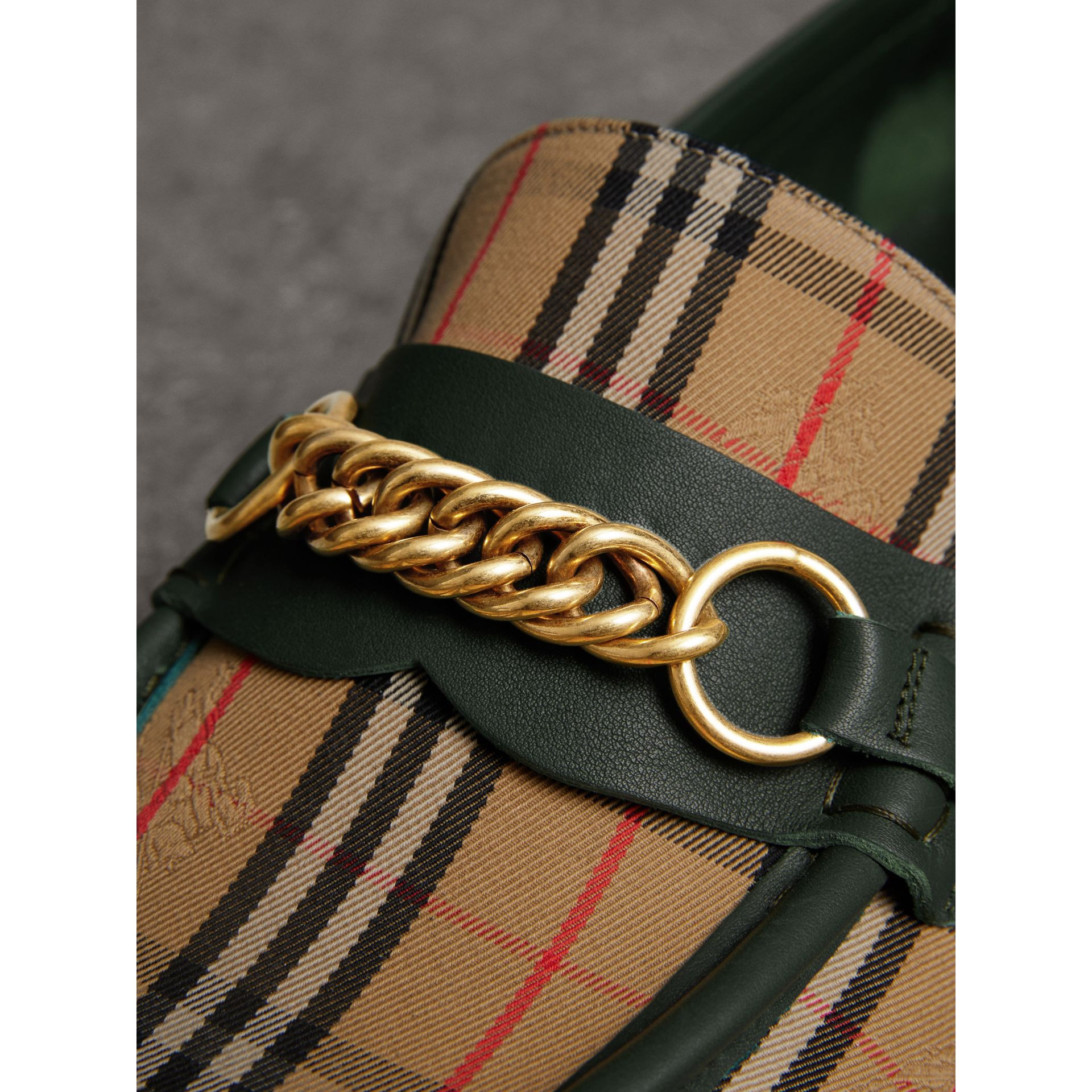 The 1983 Check Link Loafer in Dark Forest Green | Burberry Canada - gallery image 4