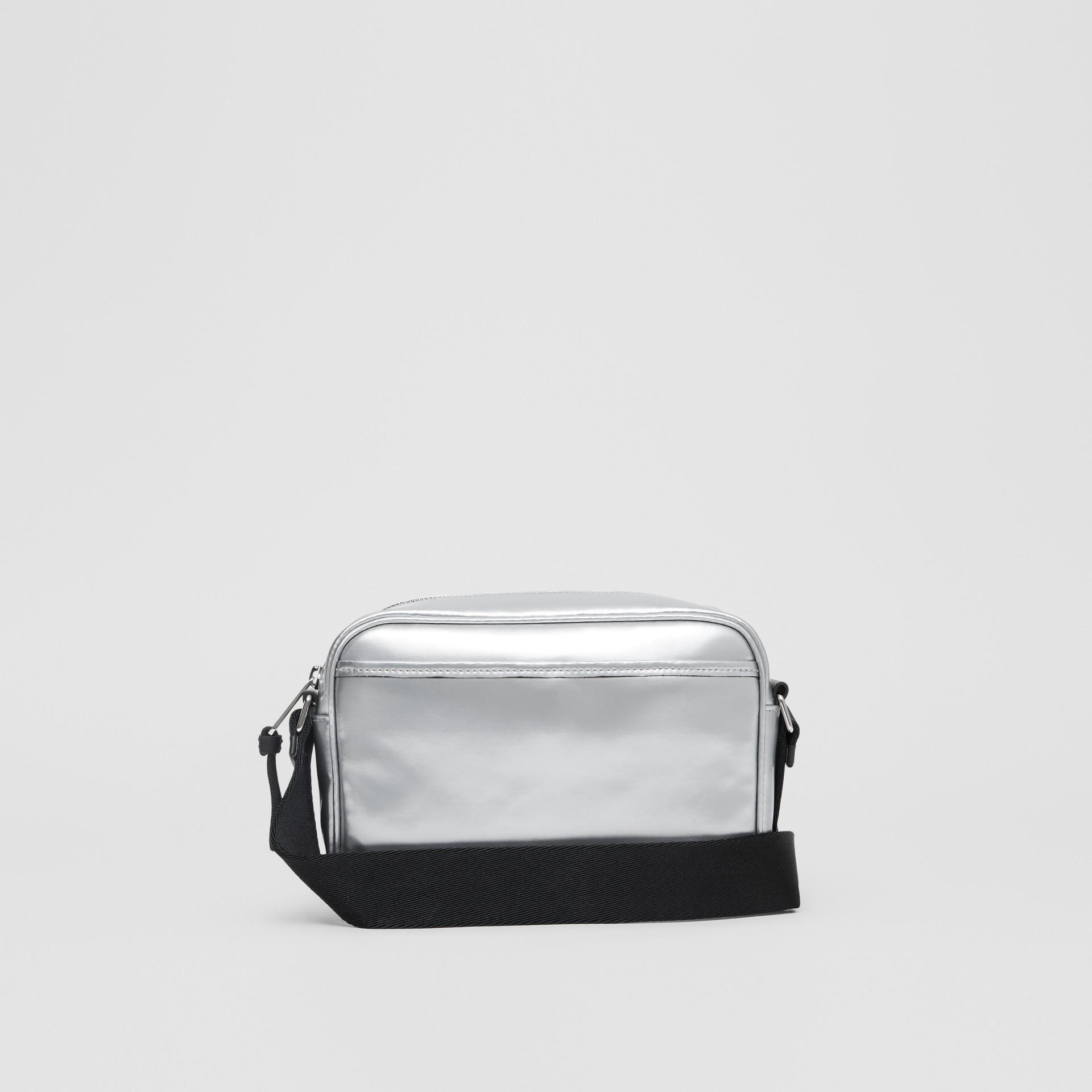 Metallic Coated Canvas Crossbody Bag in Silver - Men | Burberry - gallery image 5