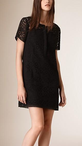 Cotton Lace Shirt Dress
