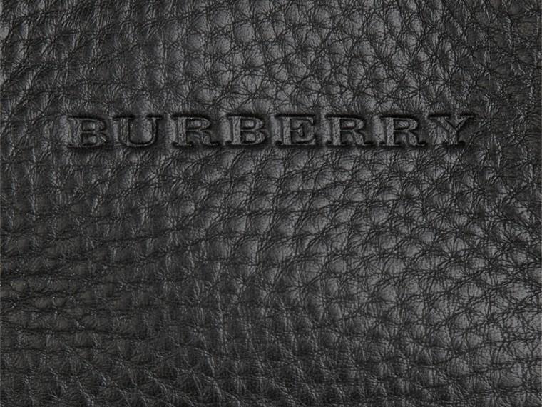 Черный Сумка-тоут из кожи со вставками в клетку Черный - cell image 1