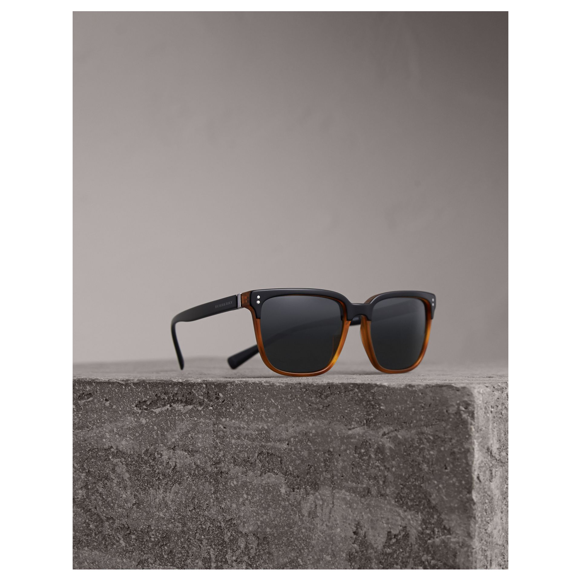 Square Frame Sunglasses - Men | Burberry - gallery image 1