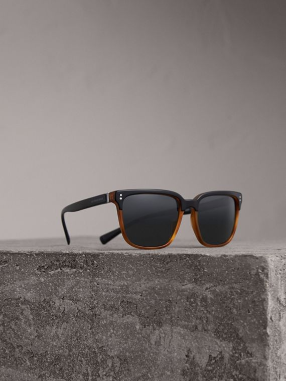 Square Frame Sunglasses - Men | Burberry Singapore