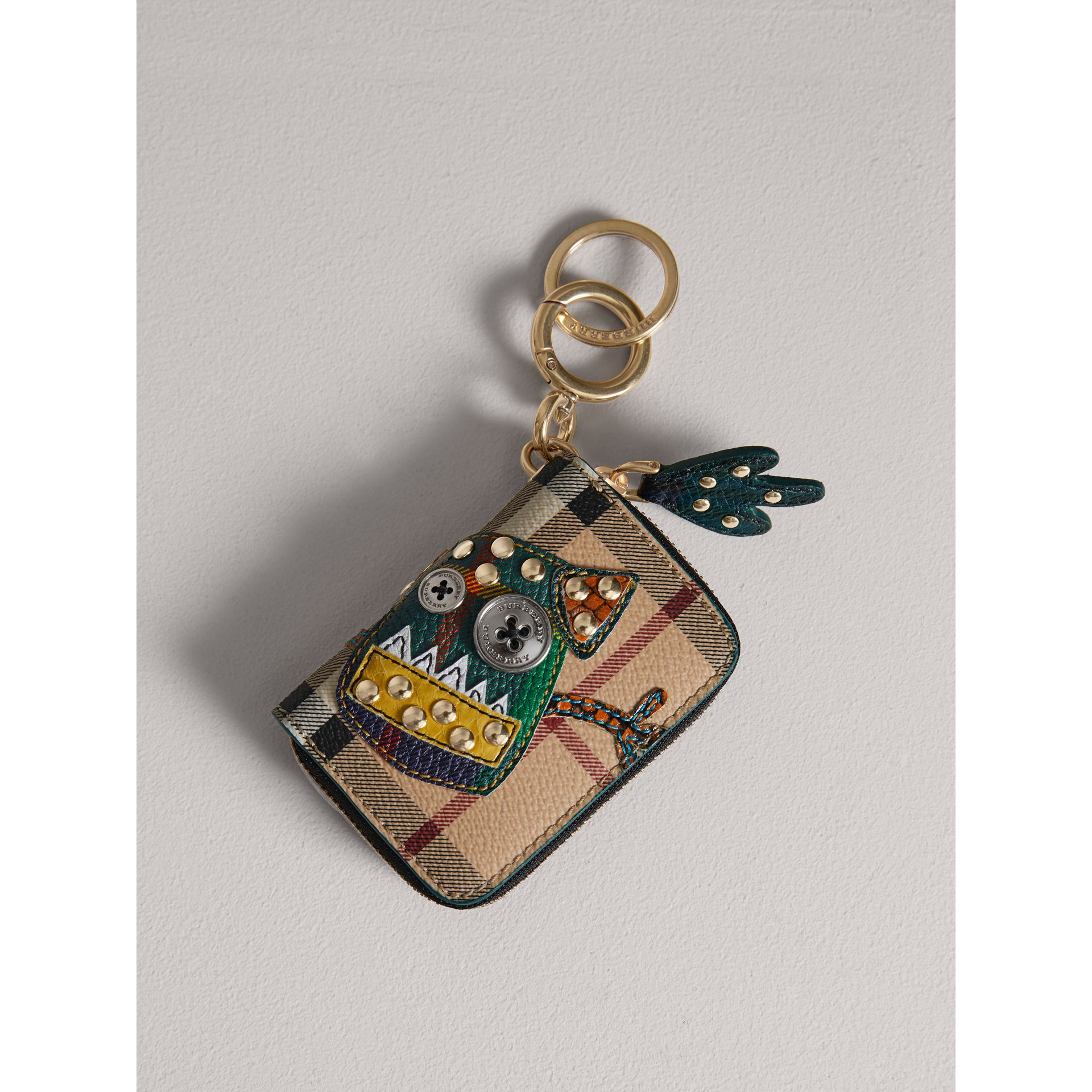 Creature Appliqué Haymarket Check Notebook Charm | Burberry Australia - gallery image 0