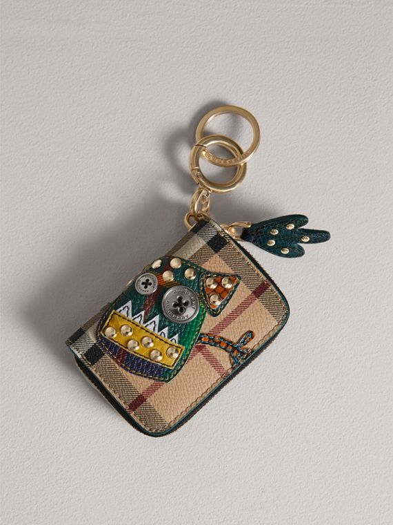 Creature Appliqué Haymarket Check Notebook Charm