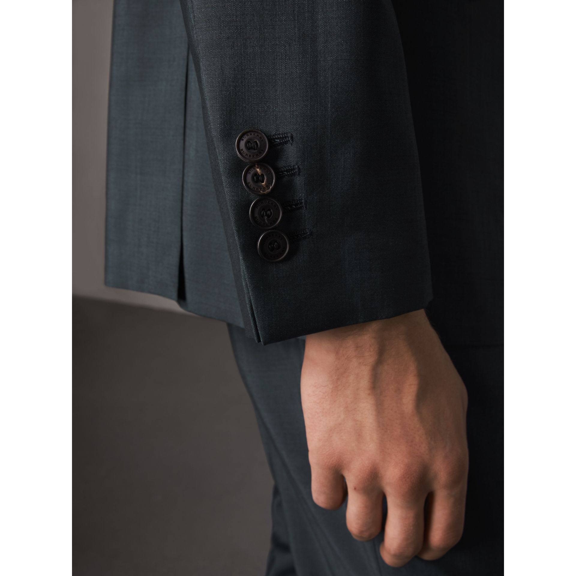 Soho Fit Wool Mohair Suit in Petrol Blue - Men | Burberry Canada - gallery image 4