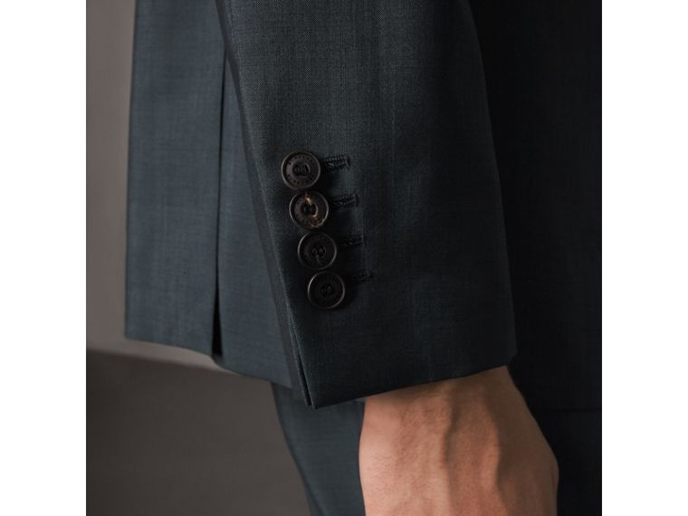 Soho Fit Wool Mohair Suit in Petrol Blue - Men | Burberry - cell image 4