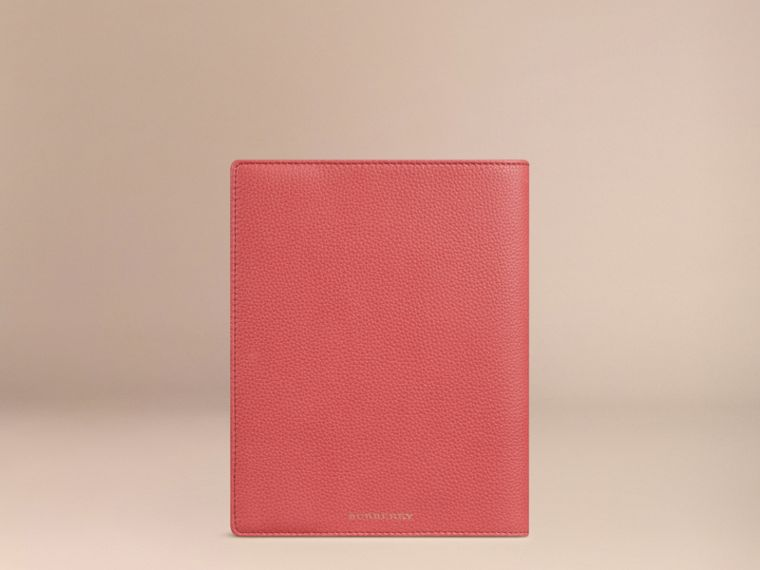 Grainy Leather A5 Notebook in Orange Red | Burberry United Kingdom - cell image 2