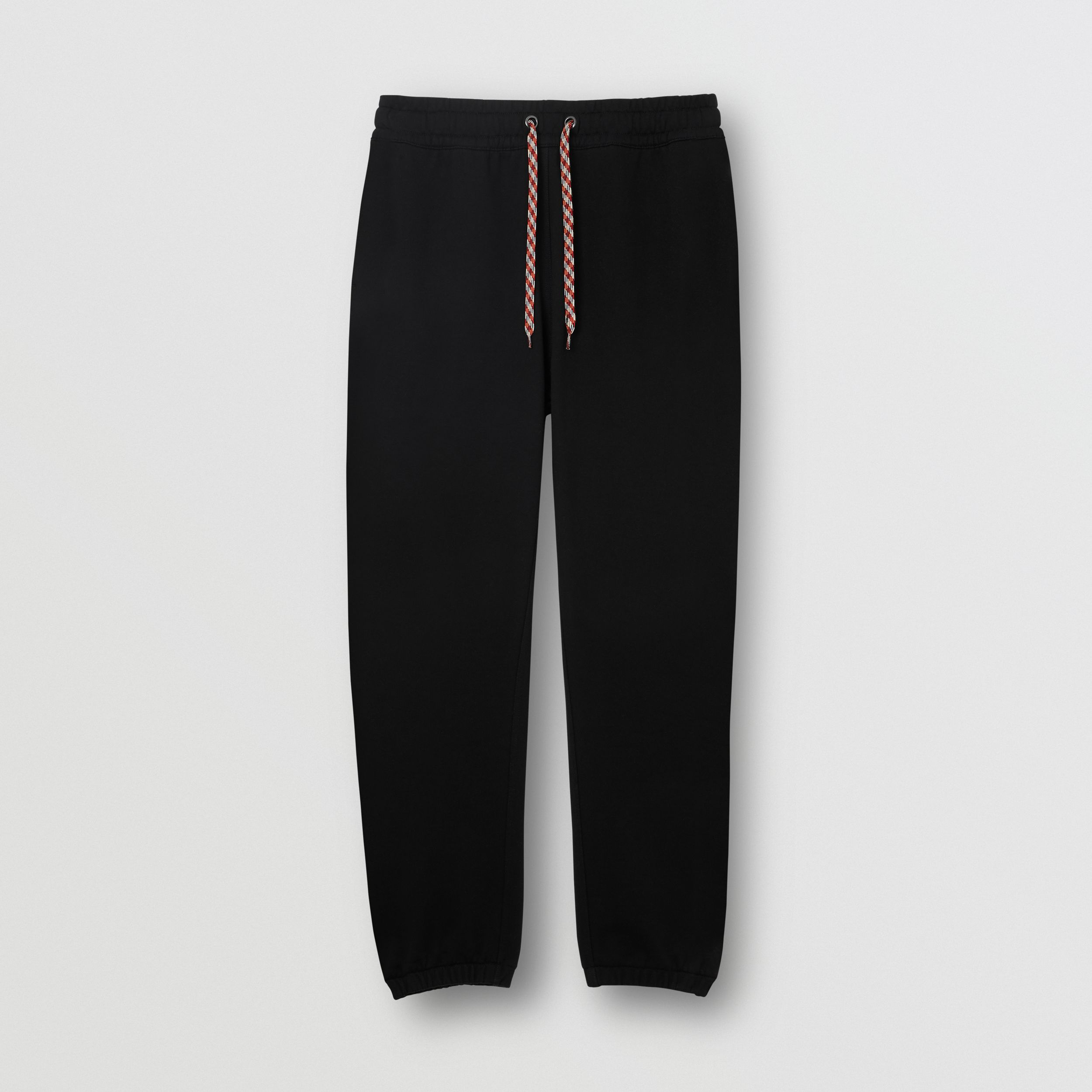 Embroidered Logo Cotton Trackpants in Black - Women | Burberry - 4