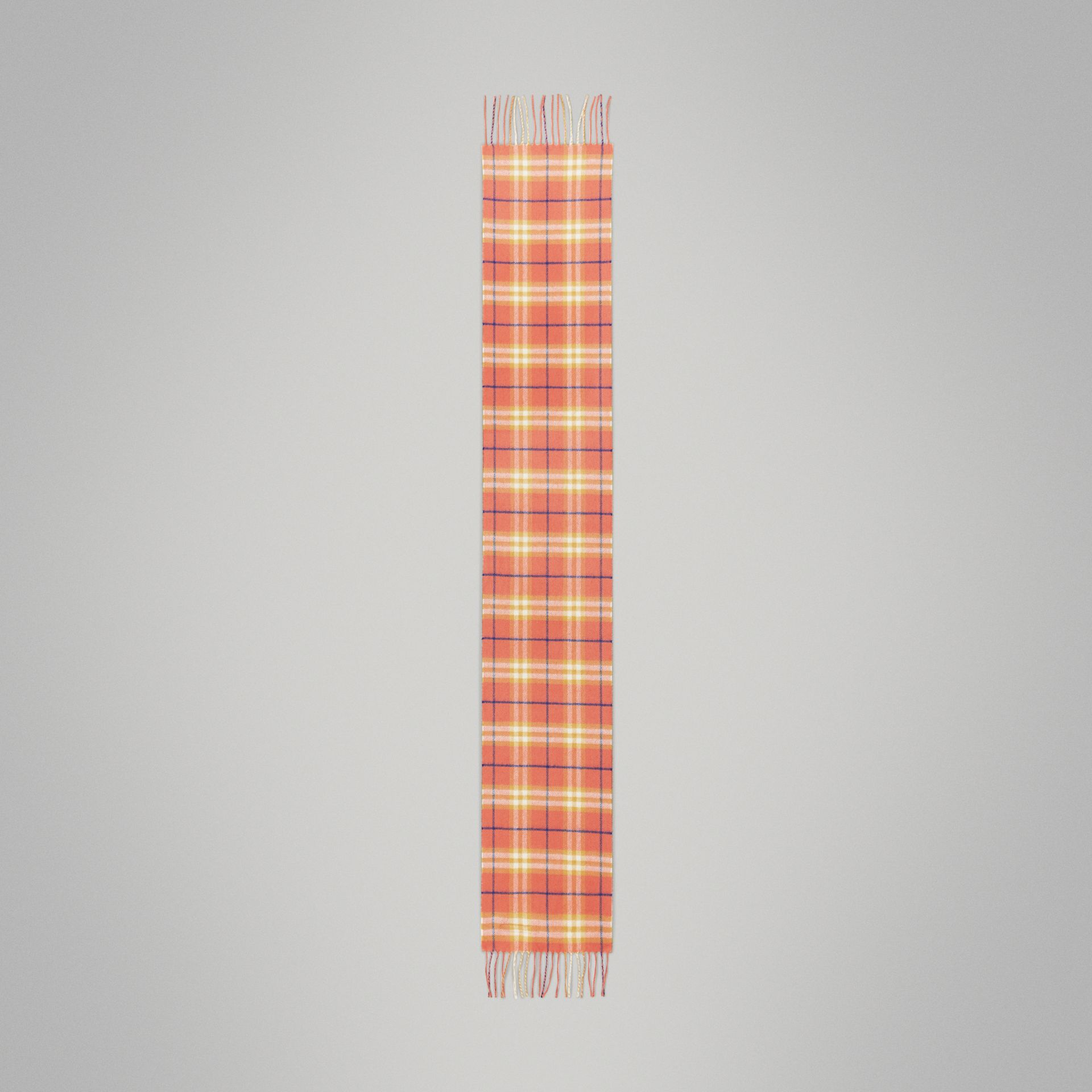 The Mini Classic Vintage Check Cashmere Scarf in Coral - Children | Burberry - gallery image 2
