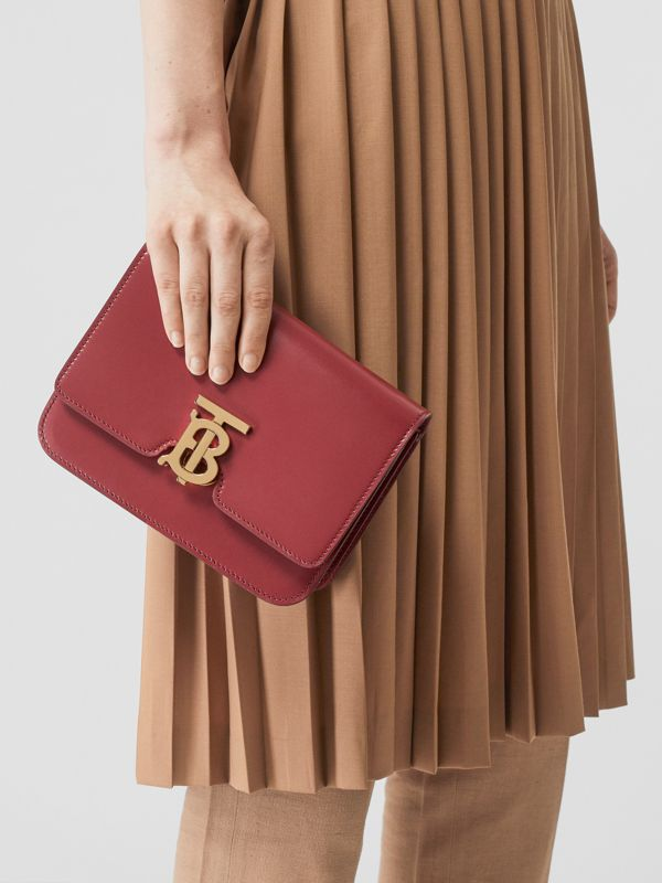 Small Leather TB Bag in Crimson - Women | Burberry United Kingdom - cell image 2