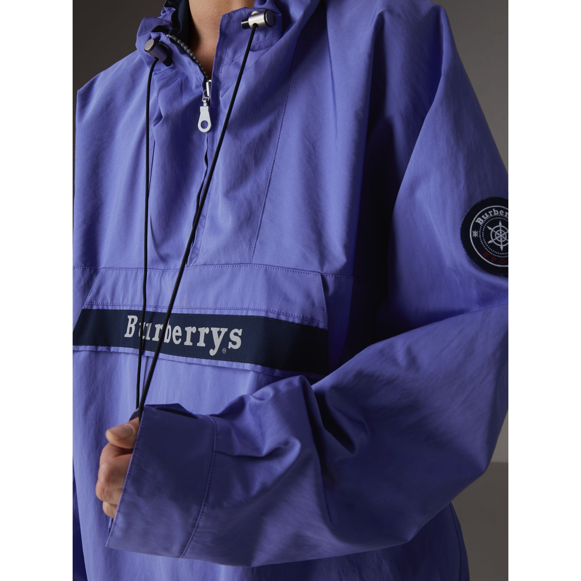 Reissued Hooded Anorak in Purple - Women | Burberry - gallery image 1