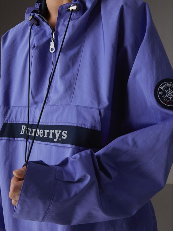 Reissued Hooded Anorak in Purple - Women | Burberry - cell image 1