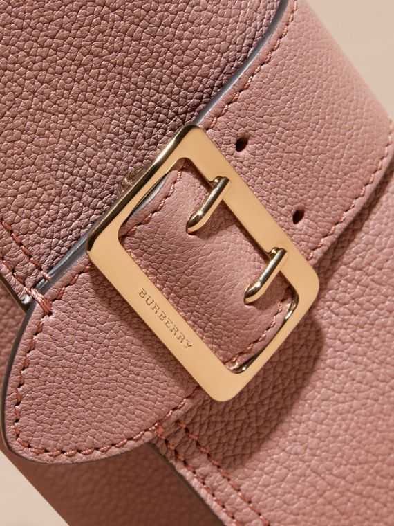 Textured Leather Continental Wallet in Dusty Pink - Women | Burberry - cell image 2