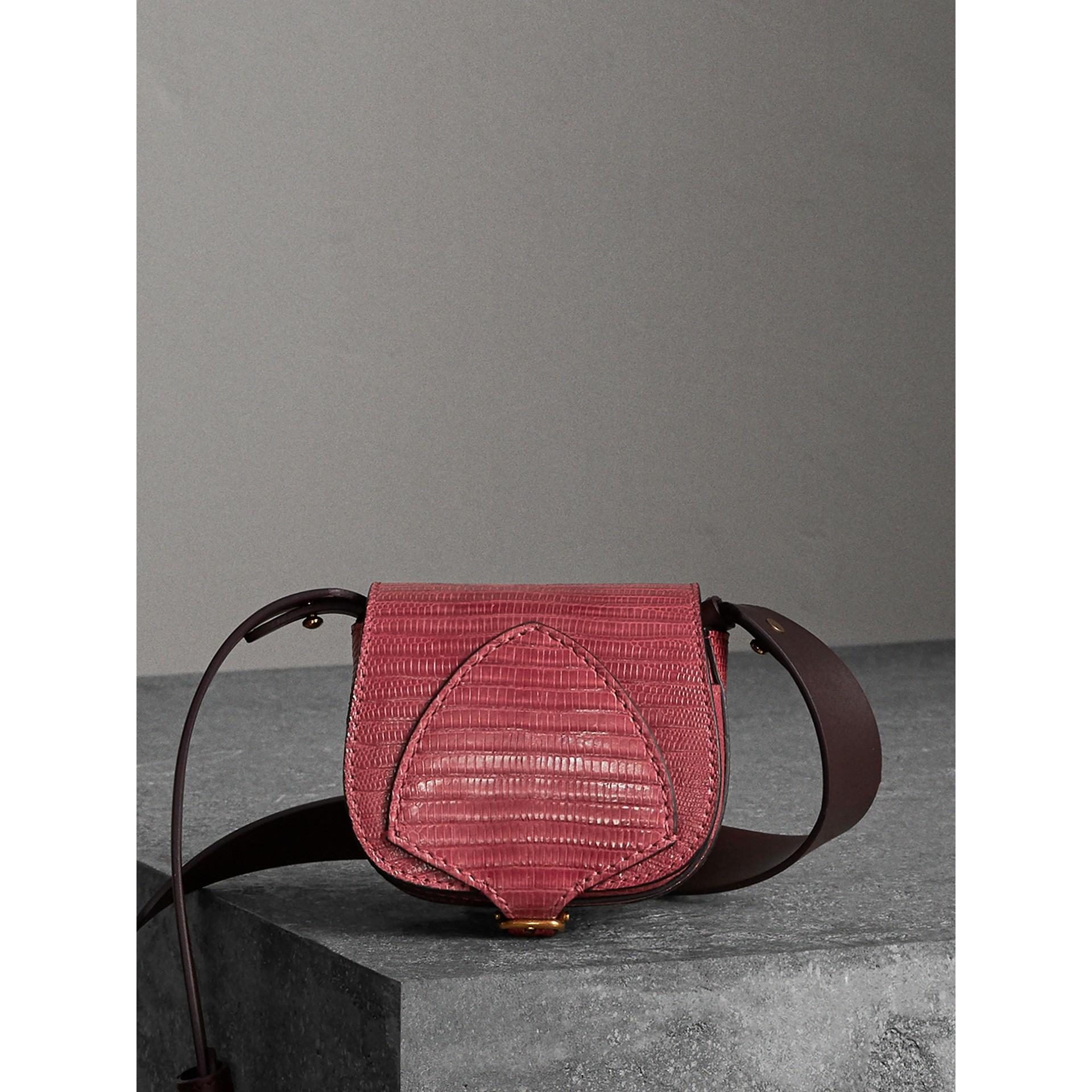 Mini sac The Satchel en lézard (Cramoisi Sombre) - Femme | Burberry - photo de la galerie 1