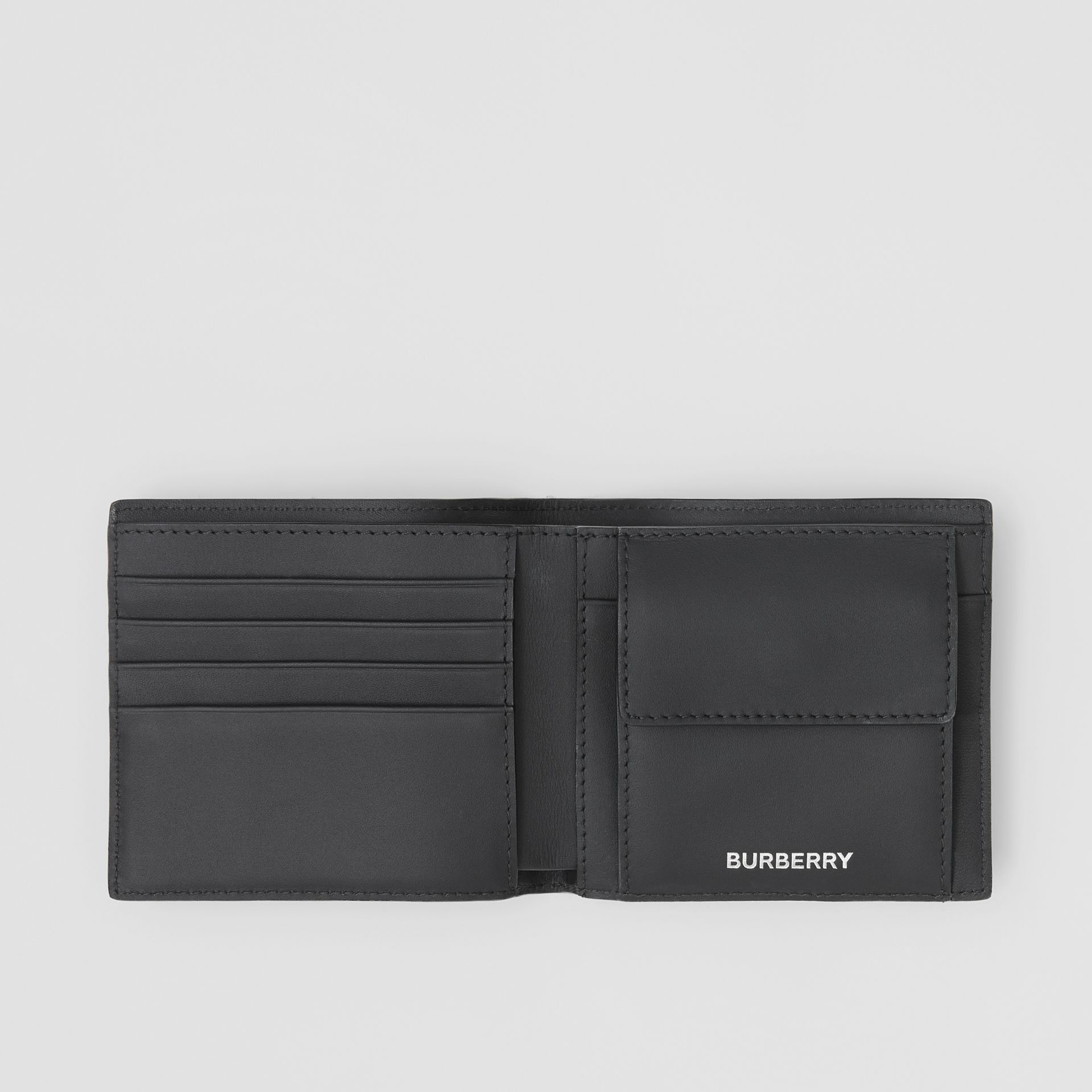 London Check International Bifold Coin Wallet in Dark Charcoal - Men | Burberry Canada - gallery image 2