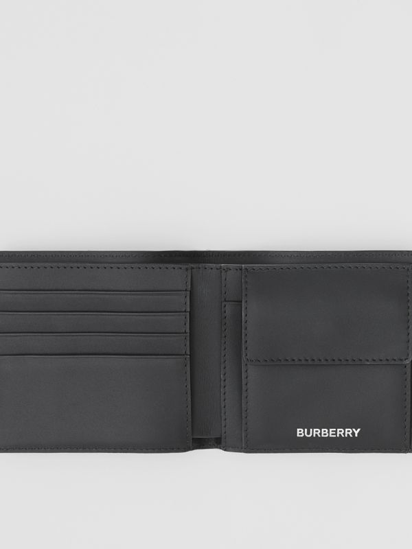 London Check International Bifold Coin Wallet in Dark Charcoal - Men | Burberry United Kingdom - cell image 2