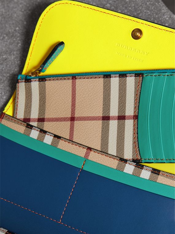 Colour Block Continental Wallet and Coin Case in Black/multicolour - Women | Burberry - cell image 3