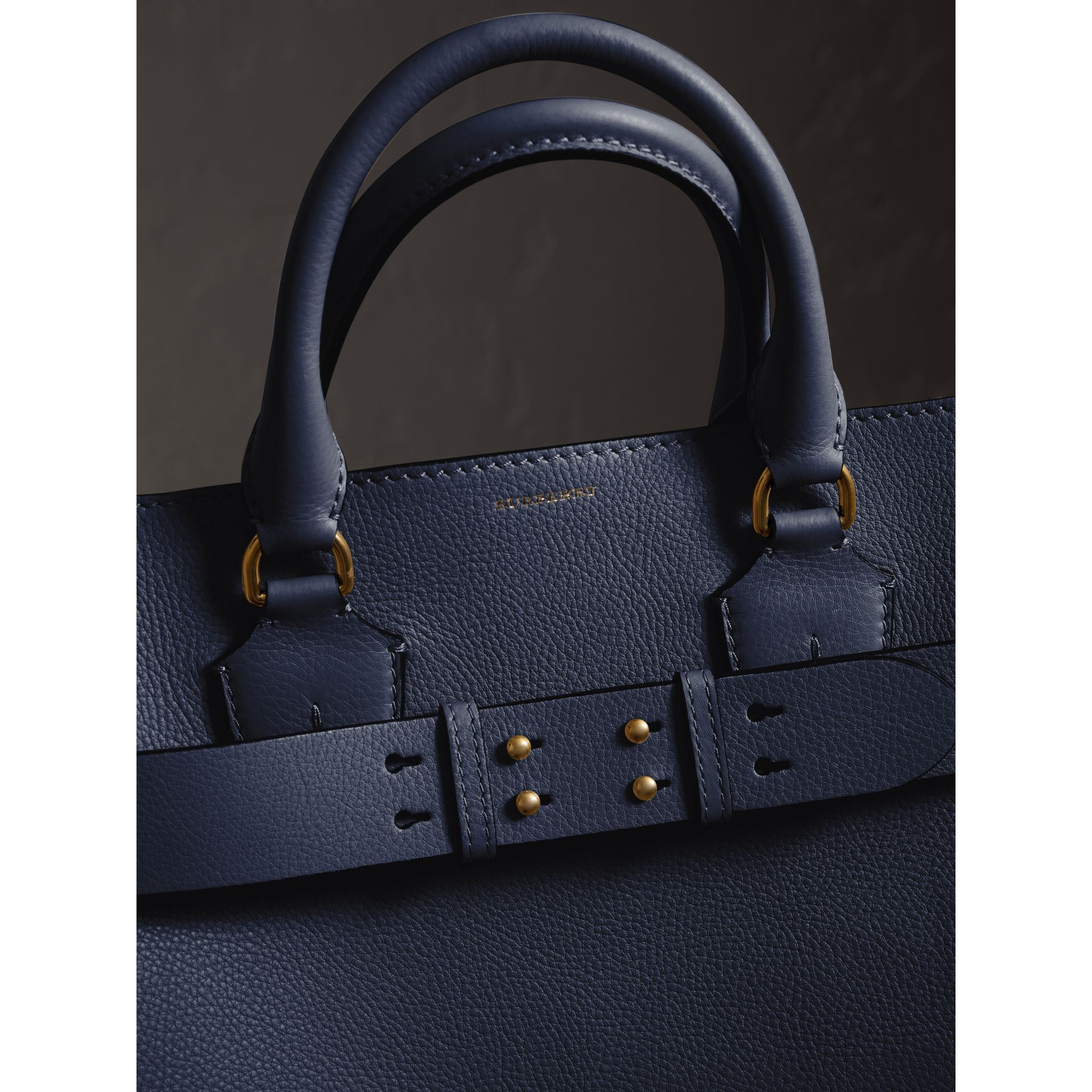 The Large Leather Belt Bag in Regency Blue | Burberry Singapore - gallery image 1