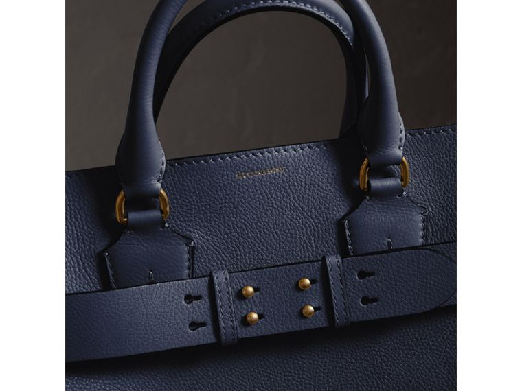 The Large Leather Belt Bag in Regency Blue | Burberry Singapore - cell image 1