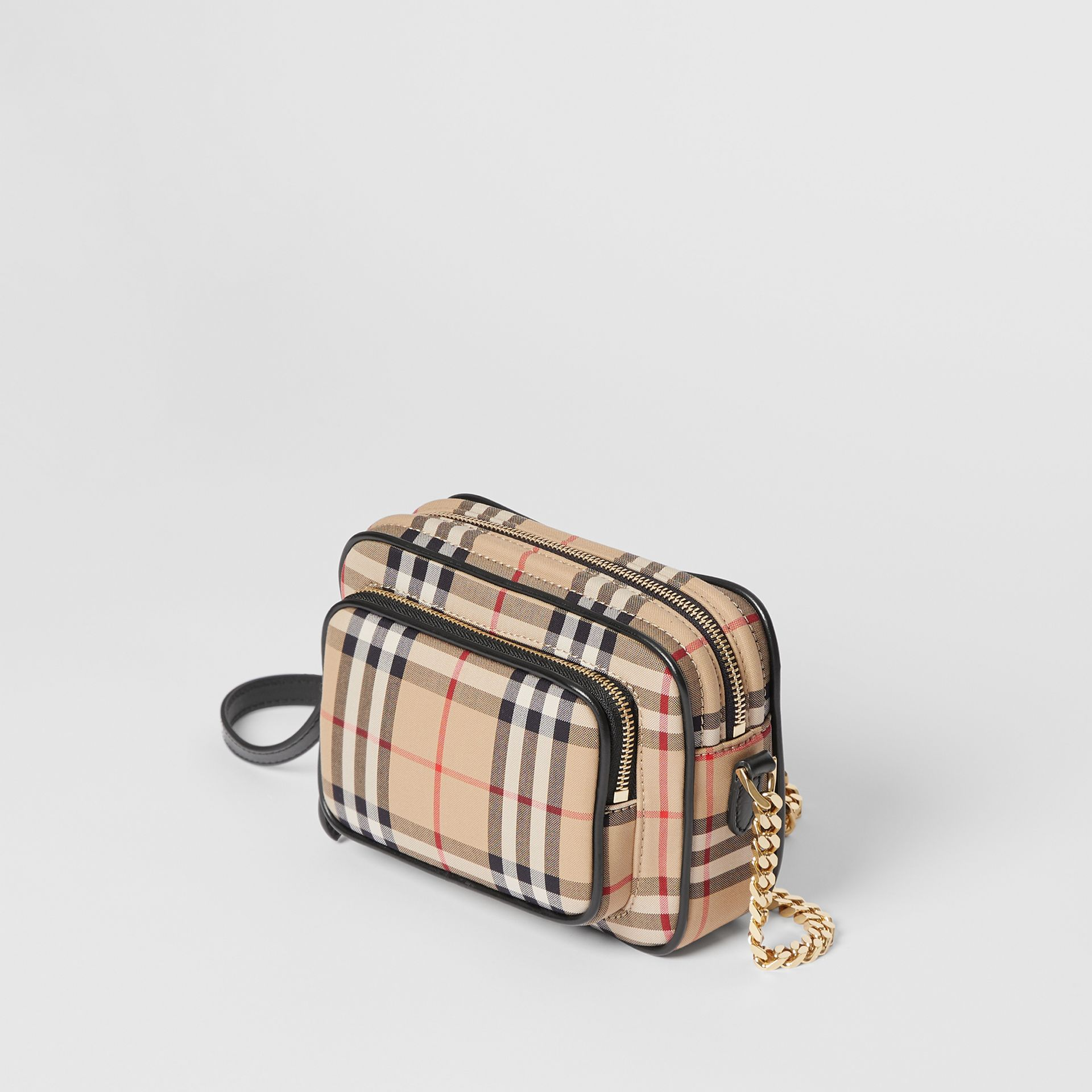 Vintage Check Cotton Camera Bag in Archive Beige | Burberry Singapore - gallery image 3