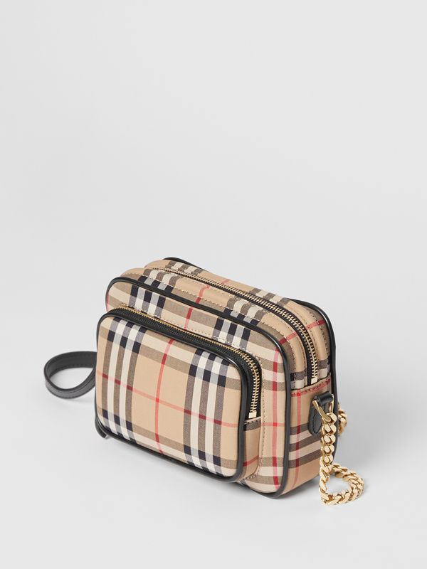 Vintage Check Cotton Camera Bag in Archive Beige | Burberry Singapore - cell image 3