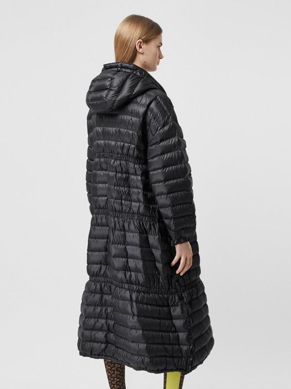 Logo Tape Lightweight Hooded Puffer Coat in Black - Women | Burberry United Kingdom - cell image 2
