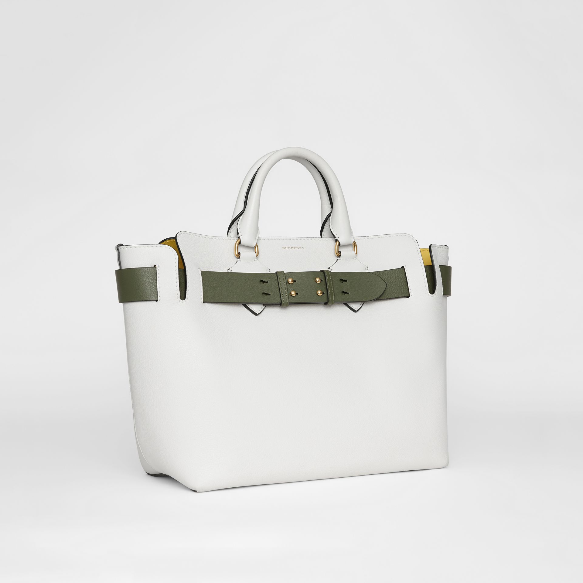 The Medium Leather Belt Bag in Chalk White - Women | Burberry - gallery image 6