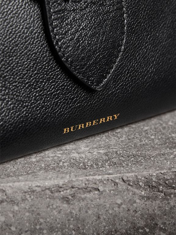 The Small Buckle Tote in Grainy Leather in Black - Women | Burberry - cell image 1