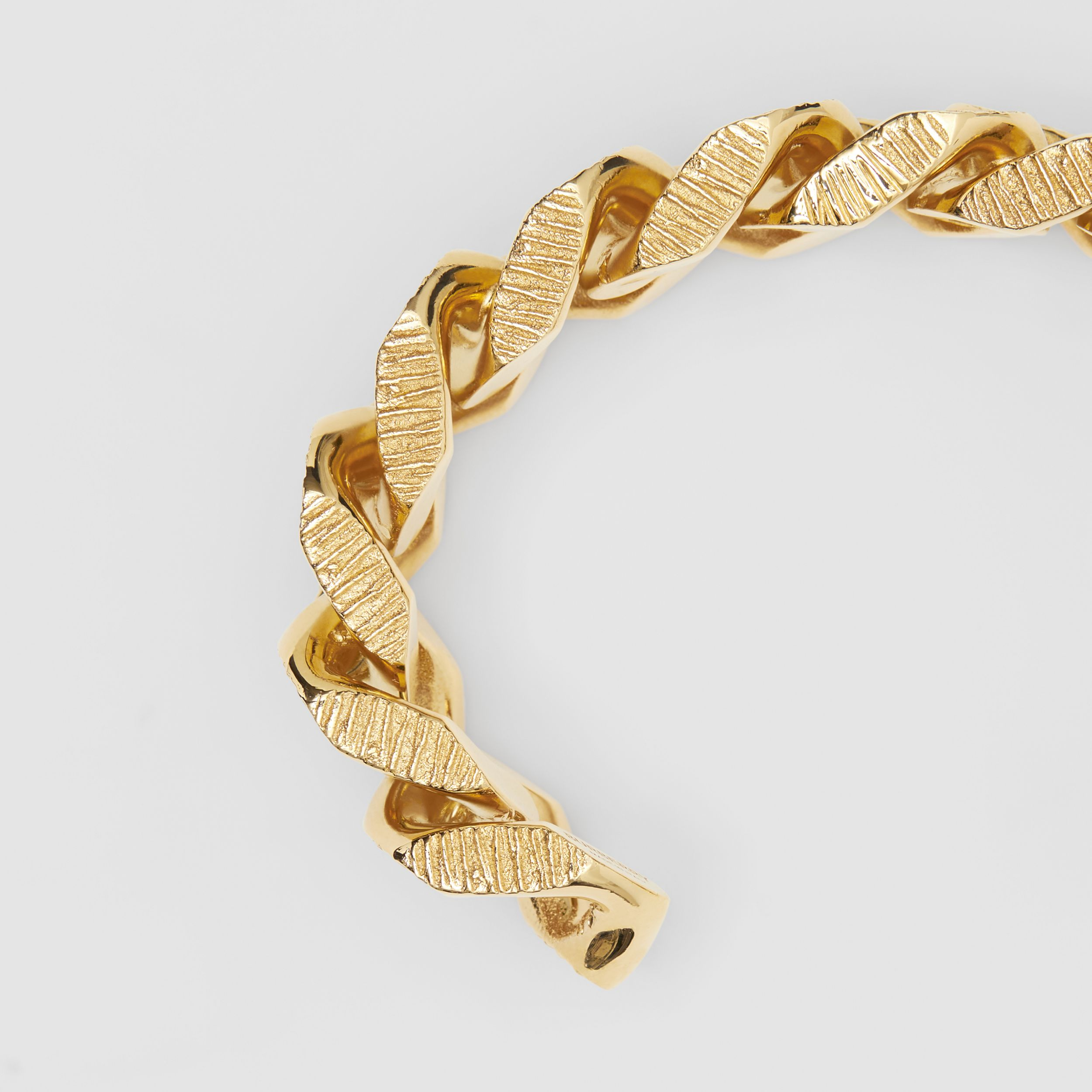 Gold-plated Chain-link Cuff in Light - Women | Burberry - 2