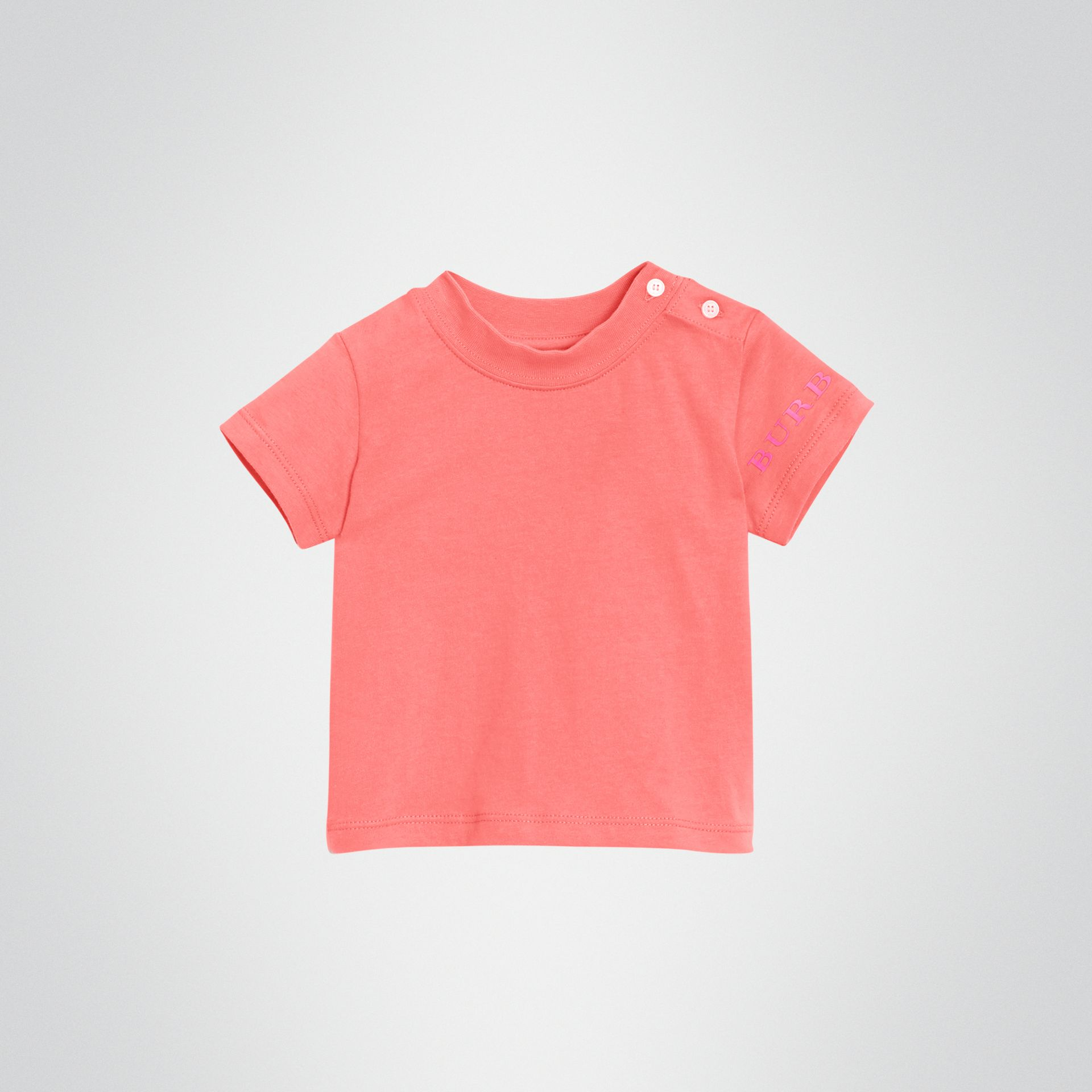 T-shirt en coton avec logo imprimé (Rose Vif) - Enfant | Burberry - photo de la galerie 0