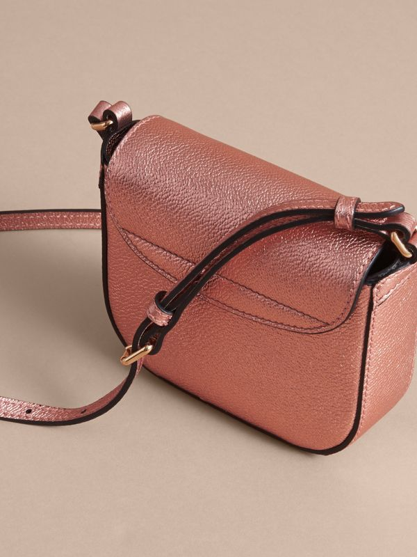 Metallic Leather Crossbody Bag in Copper Pink | Burberry - cell image 2