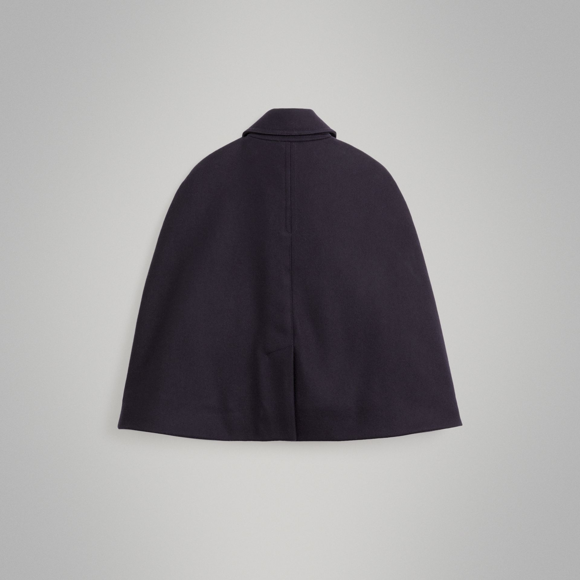 Wool Pea Coat Cape in Navy | Burberry - gallery image 3