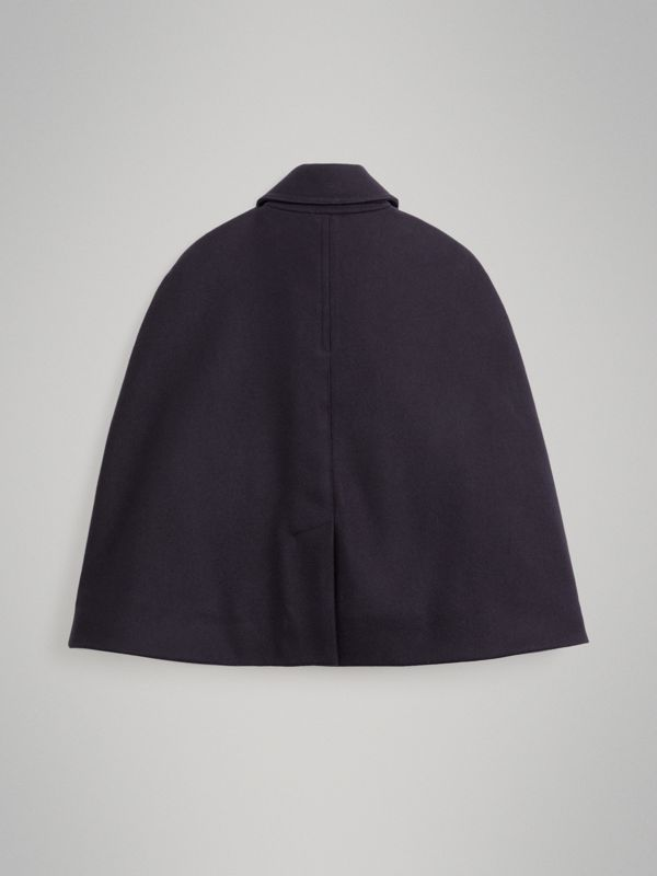 Wool Pea Coat Cape in Navy | Burberry United Kingdom - cell image 3