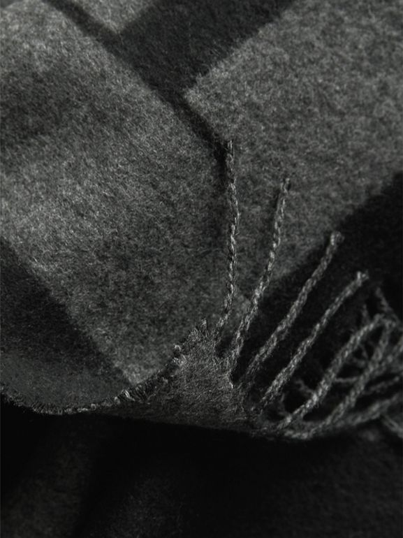 Emblem Print Cashmere Scarf in Black   Burberry - cell image 1
