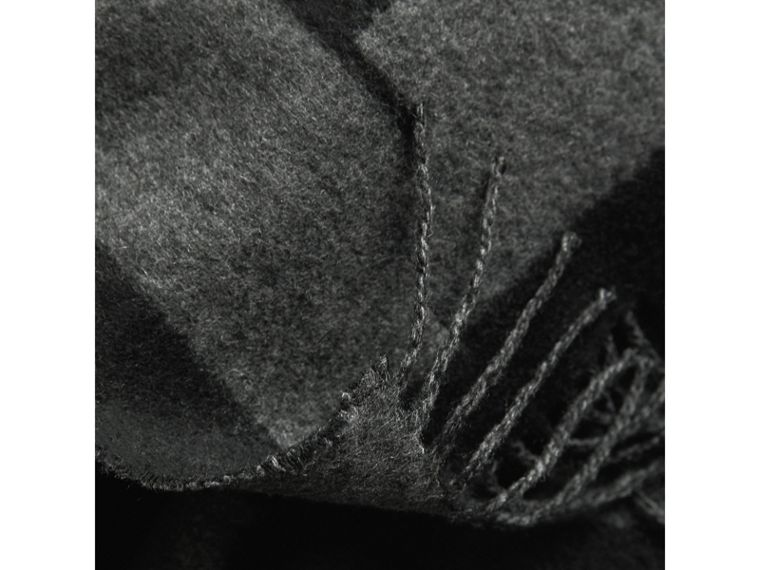 Emblem Print Cashmere Scarf in Black | Burberry - cell image 1