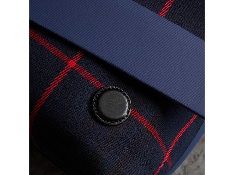 Large Tartan Cotton Messenger Bag in Deep Navy | Burberry - cell image 1