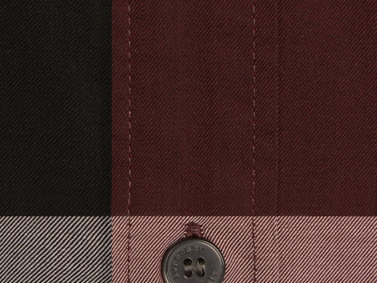 Claret Check Cotton Shirt Claret - cell image 1