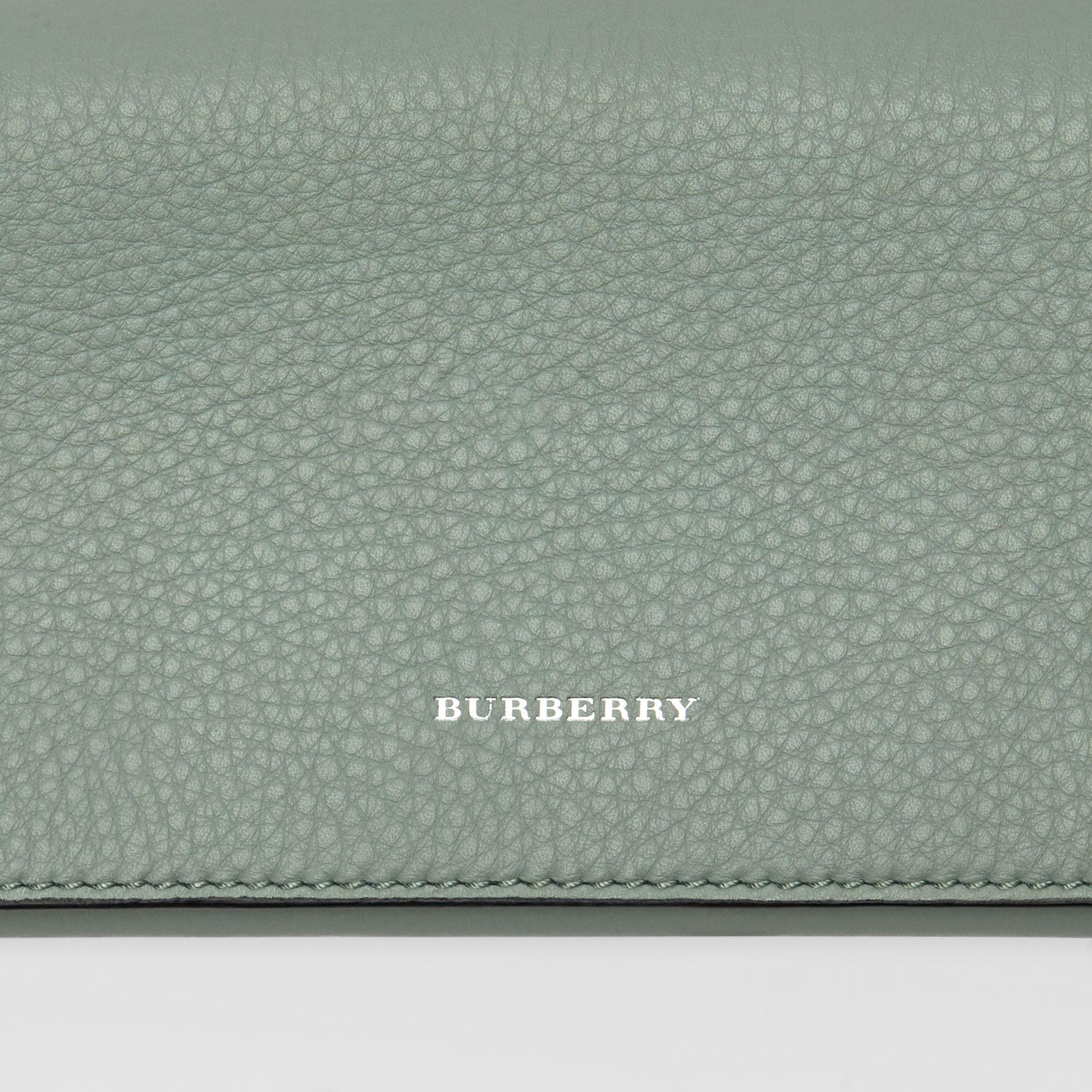 Two-tone Leather Continental Wallet in Grey Blue - Women | Burberry - gallery image 1