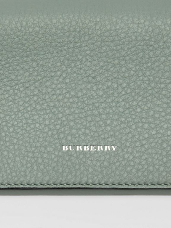 Two-tone Leather Continental Wallet in Grey Blue - Women | Burberry - cell image 1