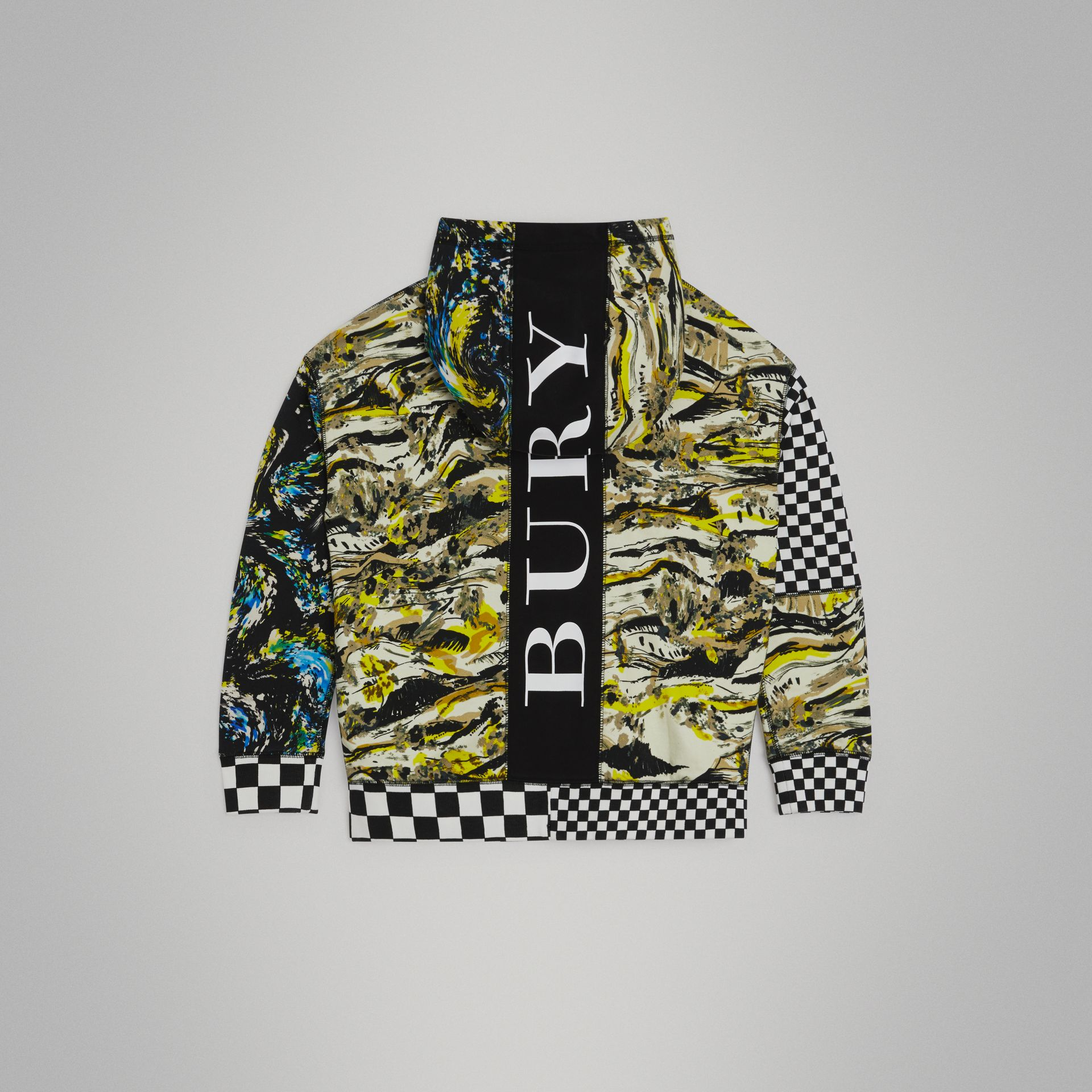Graphic Print Cotton Hooded Top in Multicolour | Burberry United Kingdom - gallery image 3