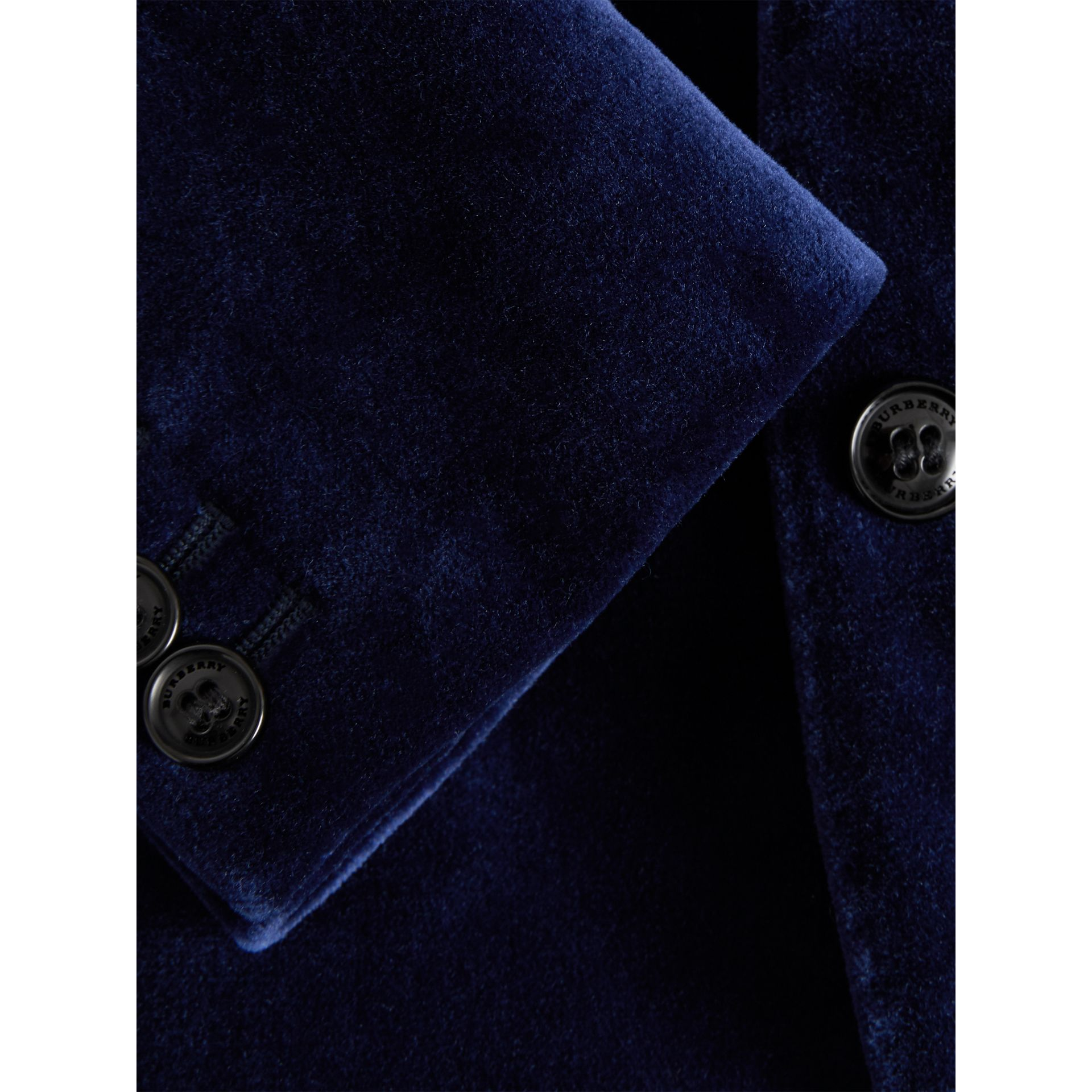 Velvet Tuxedo Jacket in Midnight Blue - Children | Burberry - gallery image 1