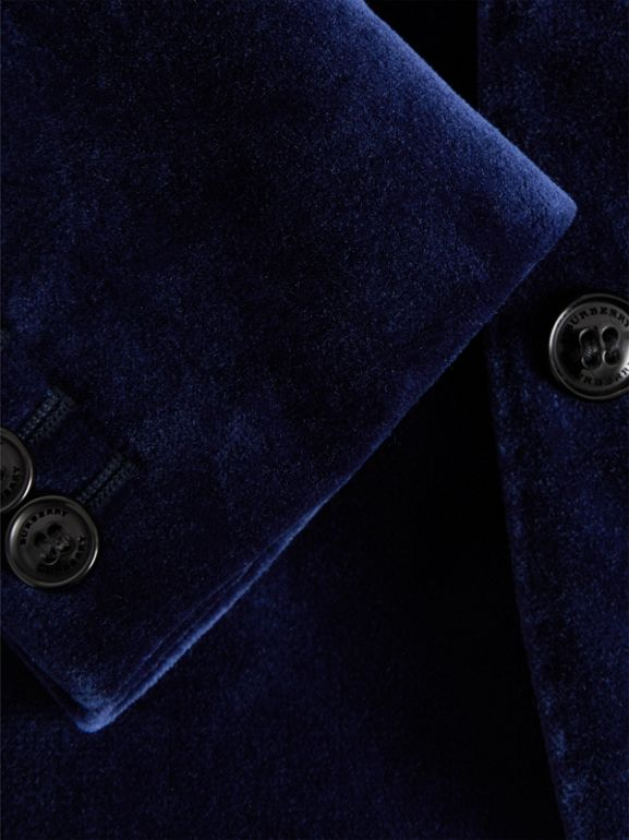 Velvet Tuxedo Jacket in Midnight Blue - Children | Burberry United Kingdom - cell image 1