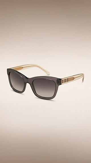 Check Detail Cat-eye Frame Sunglasses