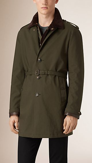 Showerproof Cotton Coat with Removable Quilted Jacket