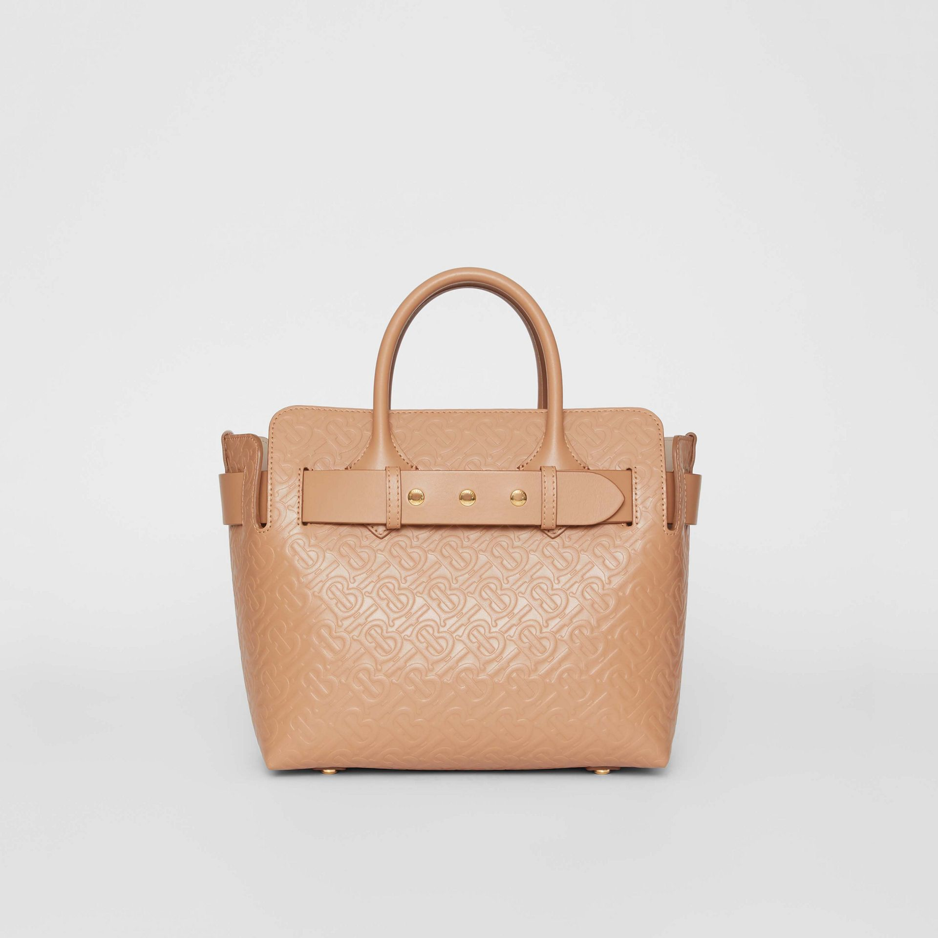 The Small Monogram Leather Triple Stud Belt Bag in Light Camel - Women | Burberry Canada - gallery image 0