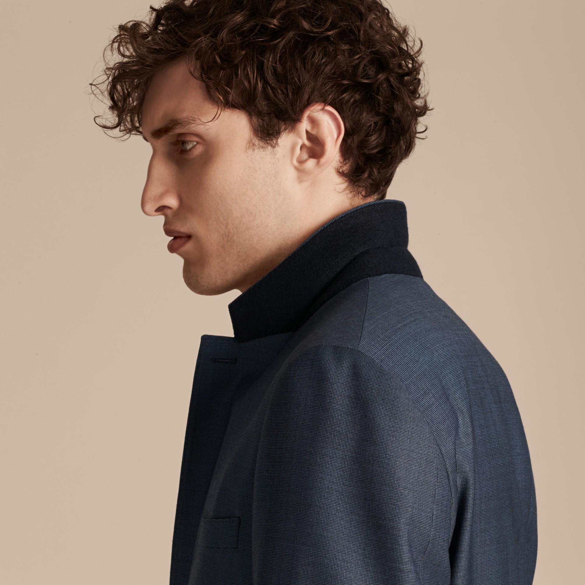 Bleu aérien Costume de coupe moderne en laine Travel Tailoring - photo de la galerie 4