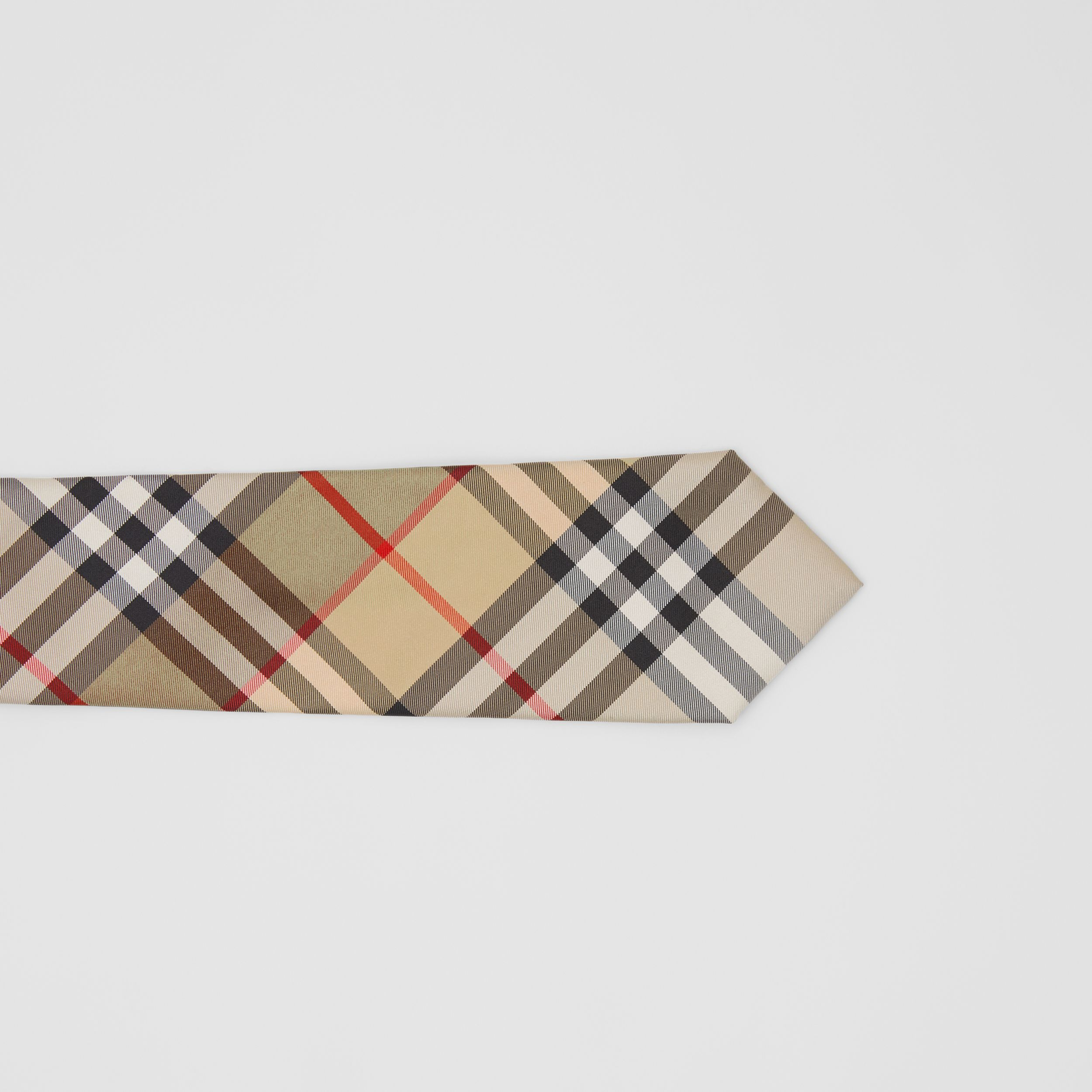 Classic Cut Vintage Check Silk Twill Tie in Archive Beige - Men | Burberry - 2