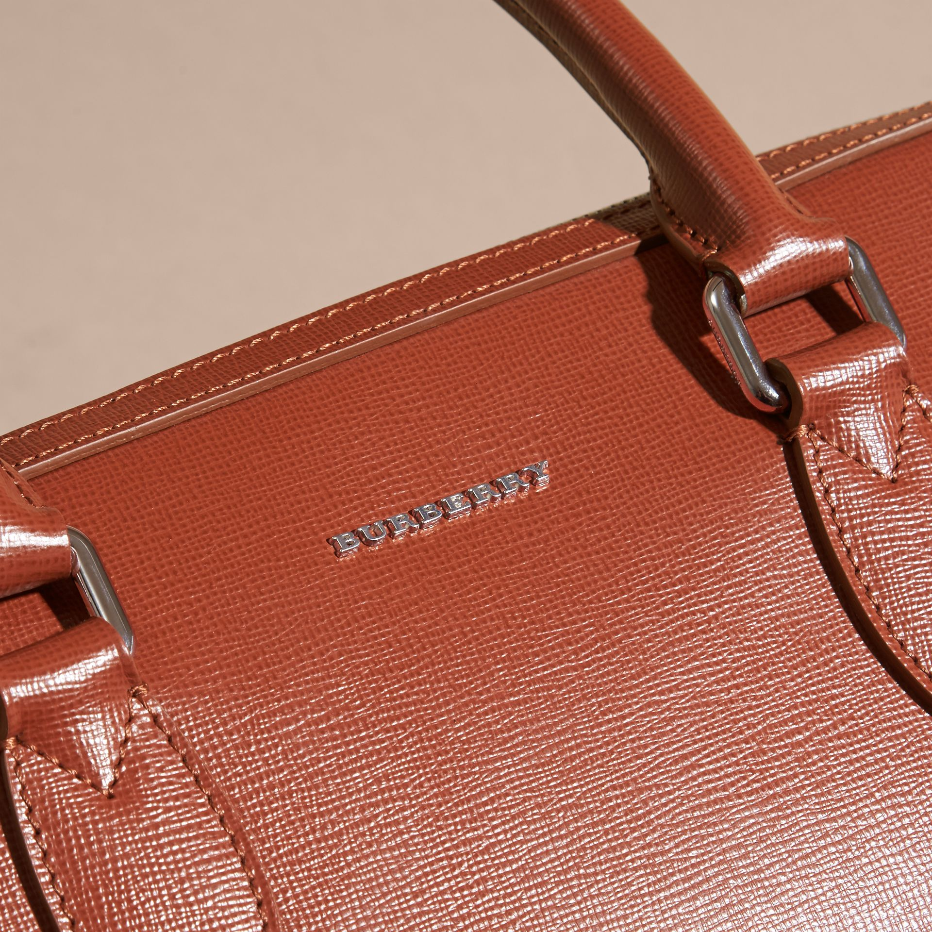 The Slim Barrow in London Leather in Burnt Sienna - gallery image 2